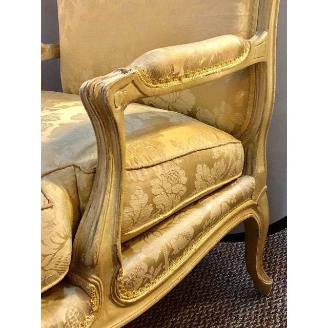 Hollywood Regency Louis XV Style Lounge Chairs by Maison Jansen - a Pair For Sale - Image 3 of 11