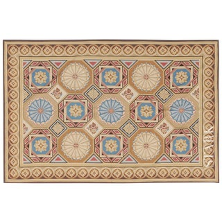 Stark Studio Rugs Traditional Chinese Needlepoint 100% Wool Rug - 14′ × 20′ For Sale
