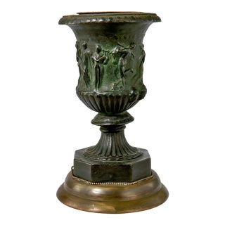 19th Century French Bronze Vase Converted Into a Lamp For Sale