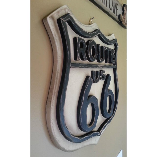 Route 66 Wood Wall Sign - Image 4 of 7