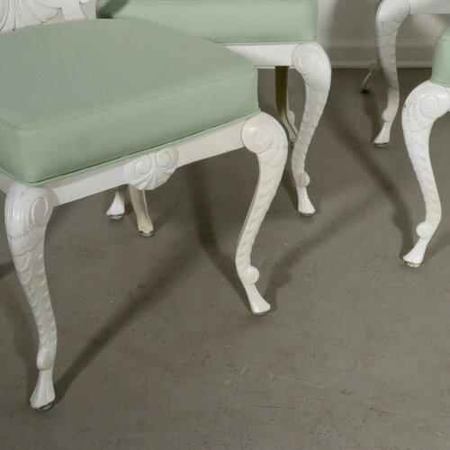 1970s Brown Jordon Shell Back Grotto Patio Dining Set For Sale - Image 5 of 13