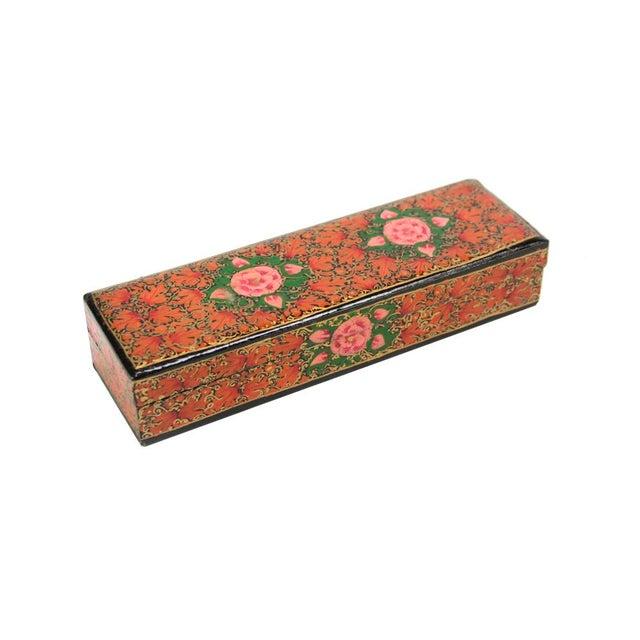 Hand Painted Kashmiri Pencil Box II - Image 1 of 3