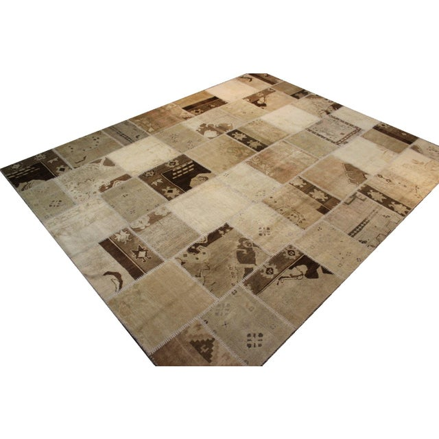 Turkish Multi-Colored Patchwork Rug - 8' x 10' - Image 5 of 7