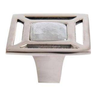 Addison Weeks Evans Custom Knob - Polished Nickel & Moonstone For Sale