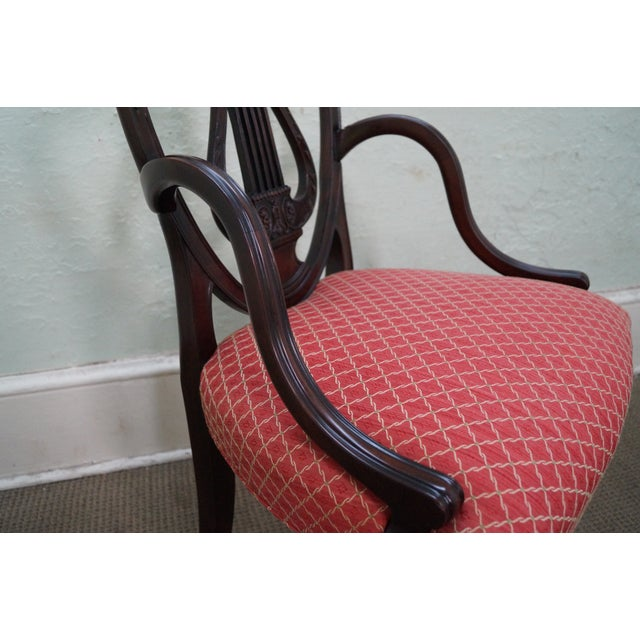 Mahogany Adams Carved Shield Back Chairs - A Pair - Image 10 of 10