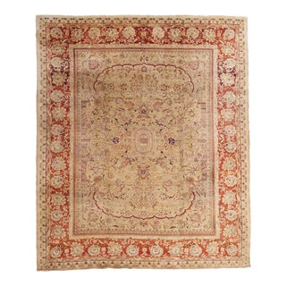 Beige Ground Indian Carpet For Sale
