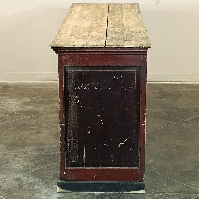 19th Century Rustic County French Store Counter For Sale - Image 4 of 11