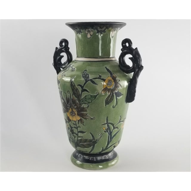 Mid 20th Century Monumental Baum Bros Vase - Jacobean Urn With Handles For Sale - Image 5 of 13
