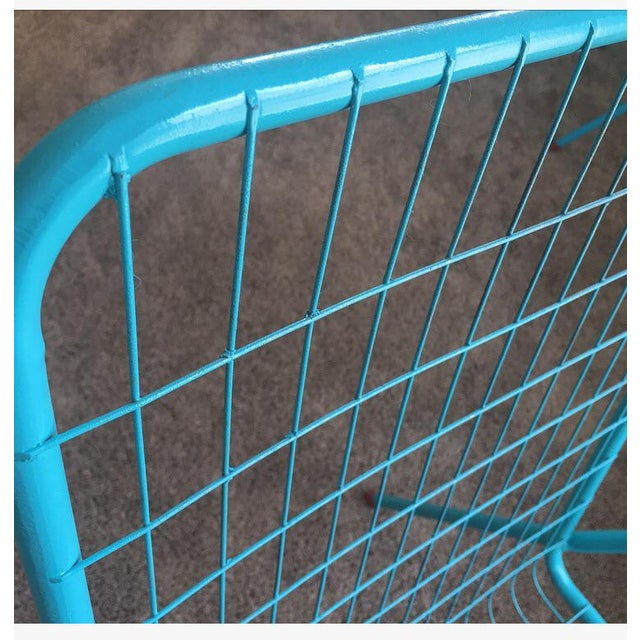 1950s Vintage Emu Industrial Metal Aqua Patio Chairs - Set of 4 For Sale - Image 9 of 13