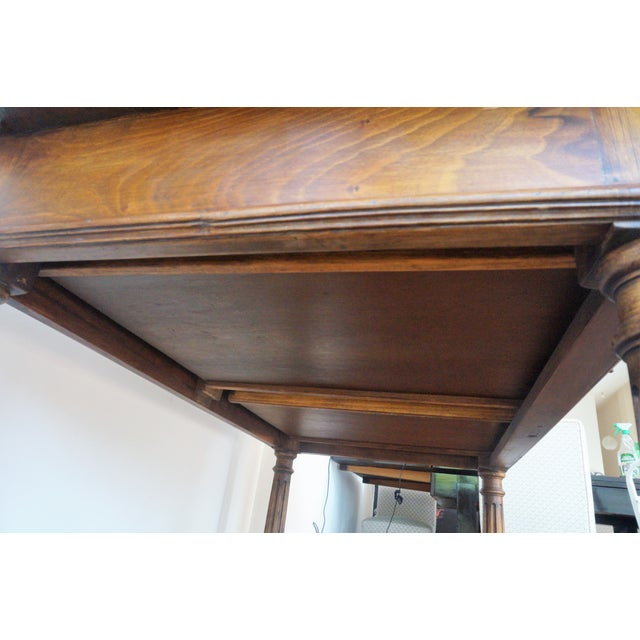 19th Spanish Refectory Table with Two Drawers, Desk Table - Image 8 of 9