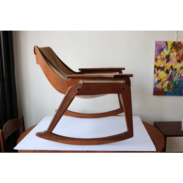 1970's Boho Jerry Johnson Sling Rocking Chair - Image 5 of 8