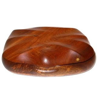 "Large Walnut Trinket Box Signed ""Jw"" For Sale"