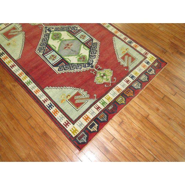 """Textile Vintage Turkish Konya Rug - 4'6"""" x 6'4"""" For Sale - Image 7 of 7"""