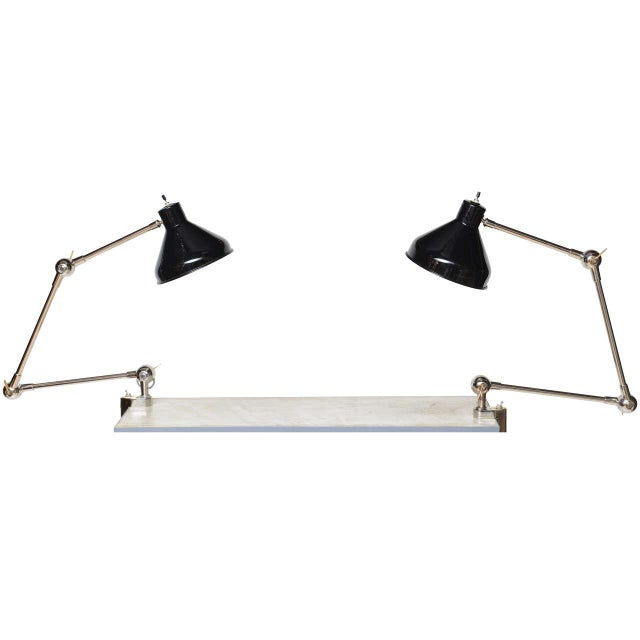 1940s Architectural Clamp Lamp For Sale - Image 10 of 10