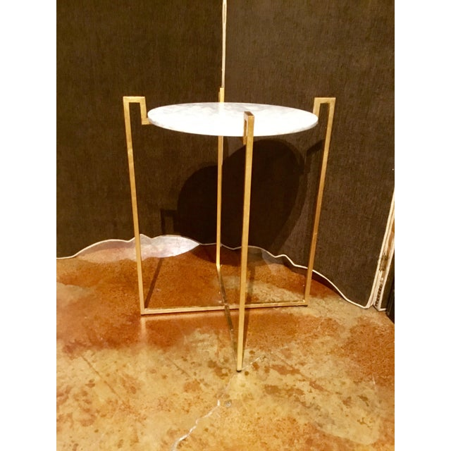 Worlds Away Abel Gold Side Table - Image 6 of 6