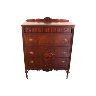 Victorian-Style Walnut & Mahogany Dresser