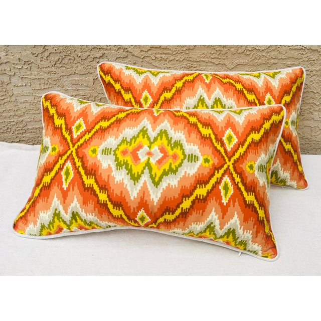 Mid Century Brunschwig and Fils Cotton Print Pillows - a Pair For Sale - Image 9 of 10