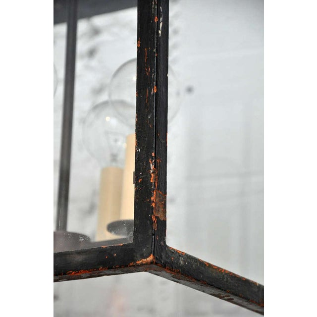 Continental Style Black Iron Lantern For Sale - Image 9 of 10