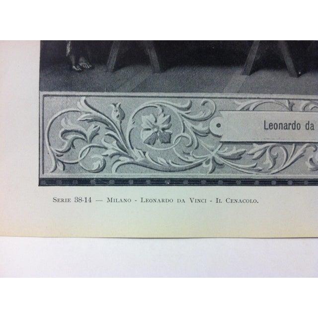 """Figurative Circa 1930 """"Leonardo Da Vinci - Il Cenacolo"""" Print of Milano Italy Print For Sale - Image 3 of 4"""