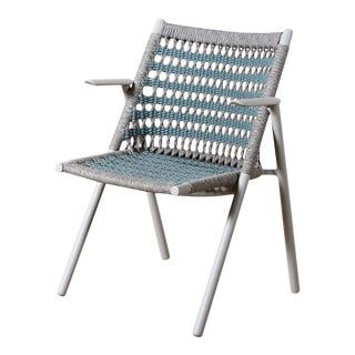 Modern Anatra Woven Outdoor Arm Chair For Sale