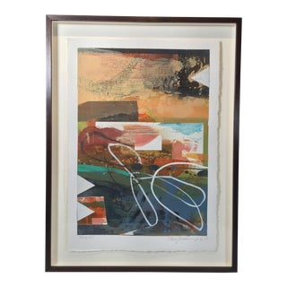 Contemporary Framed Colorful Abstract For Sale