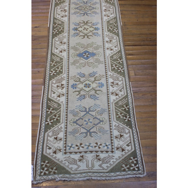 Turkish Oushak Runner - 2′7″ × 17′6″ - Image 6 of 9