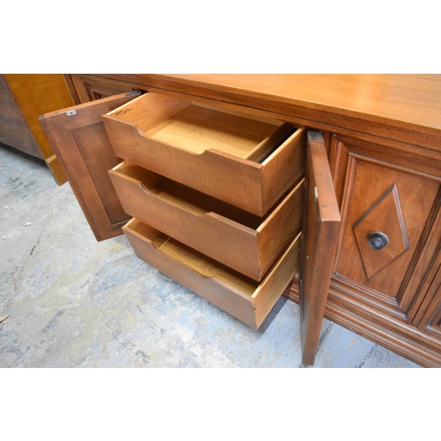 Wood Late 19th Century Vintage Mount Airy Furniture Five Doors Credenza Cabinet For Sale - Image 7 of 9