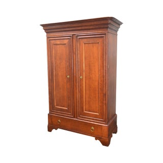 Baker Milling Road Large Continental Style 2 Door Linen Press Armoire Cabinet
