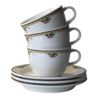 Villeroy & Boch Perugia White Premium Porcelain Cups and Saucers - Set of 6