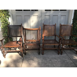 Vintage Carved Wood Chairs-Set of 4 Preview