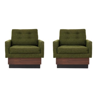 1960s Vintage Adrian Pearsall Lounge Chairs- A Pair For Sale