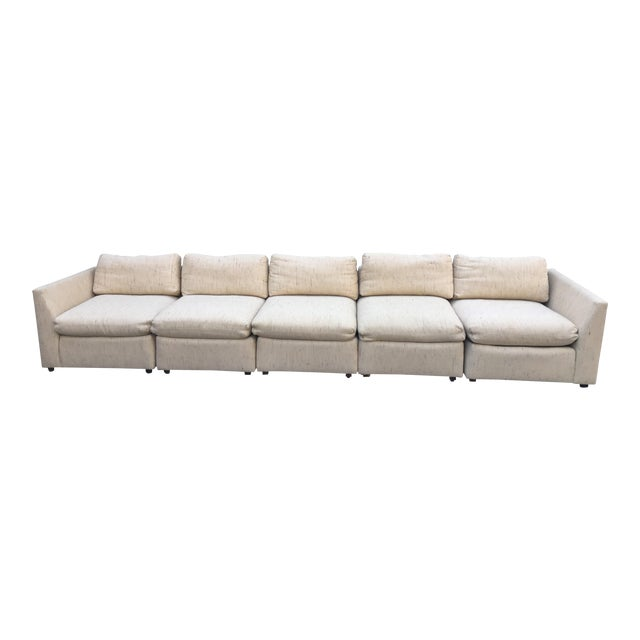 1980s Vintage Dansen 5pc Sectional Sofa For Sale