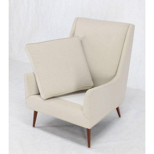 White McCobb High Dowel Leg Lounge Chair For Sale - Image 8 of 10