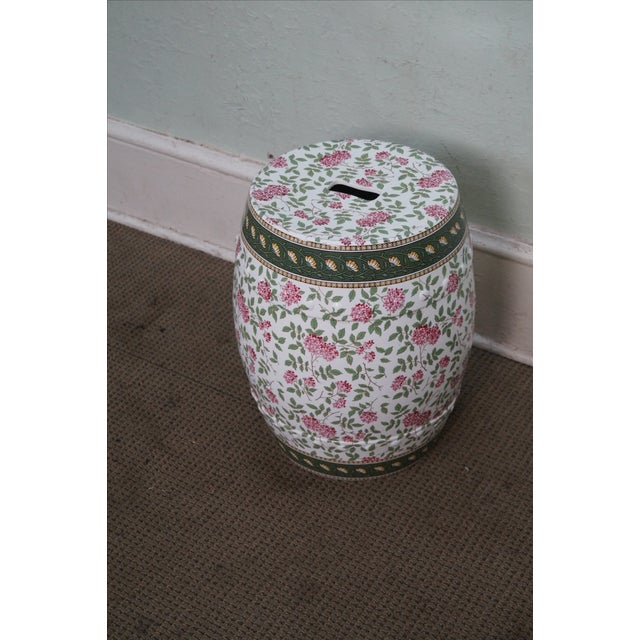 Vintage Floral Pattern Pottery Garden Seat - Image 10 of 10