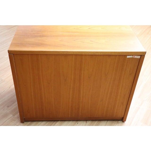 Scandinavian Design Teak File Credenza For Sale - Image 4 of 5
