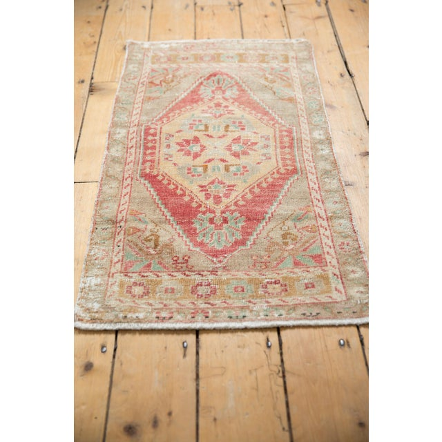 "Old New House Vintage Distressed Oushak Rug Mat Runner - 1'9"" X 3'3"" For Sale - Image 4 of 6"