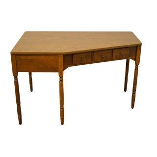 """Ethan Allen Heirloom Nutmeg Maple Crp Custom Room Plan 48"""" Corner Writing Desk 10-4591p For Sale"""