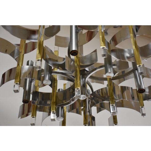 Italian Italian Gaetano Sciolari Chandelier For Sale - Image 3 of 8