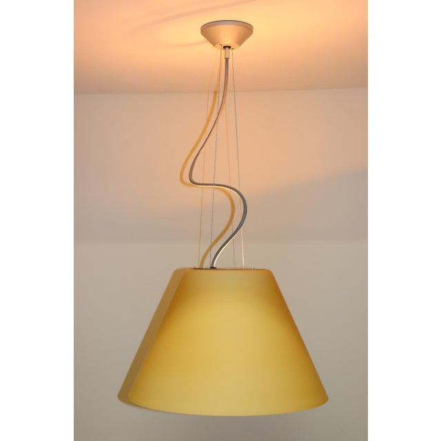 Mid-Century Modern Pendant Lamp by Carlo Nason for Itre Murano Amber Glass For Sale - Image 12 of 12