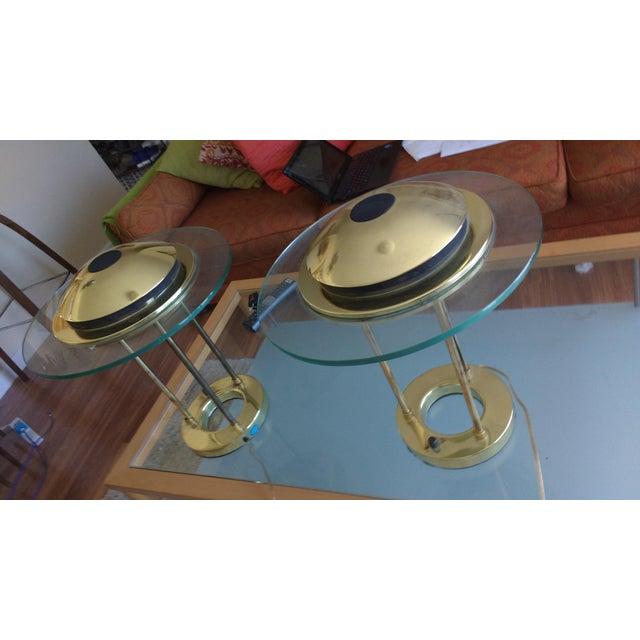 Art Deco Vintage Sonneman Kovacs Saturn Desk Lamp - A Pair For Sale - Image 3 of 7