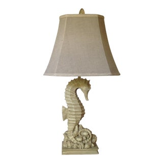 Vintage Seahorse/Seashell Table Lamp