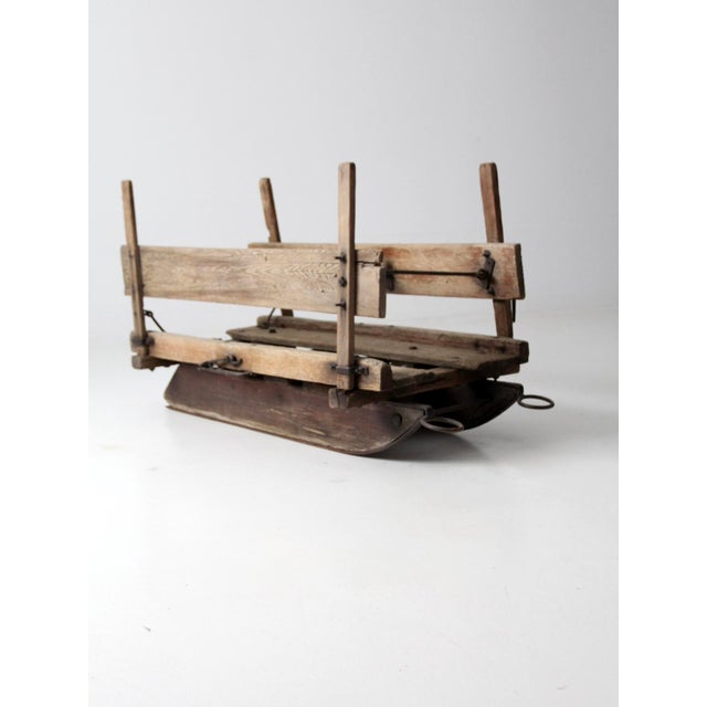 Country Antique Primitive Sled For Sale - Image 3 of 13
