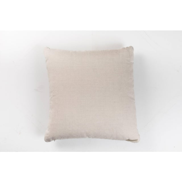 Indian Handwoven Pillow Ocean Stripe Charcoal For Sale - Image 4 of 5