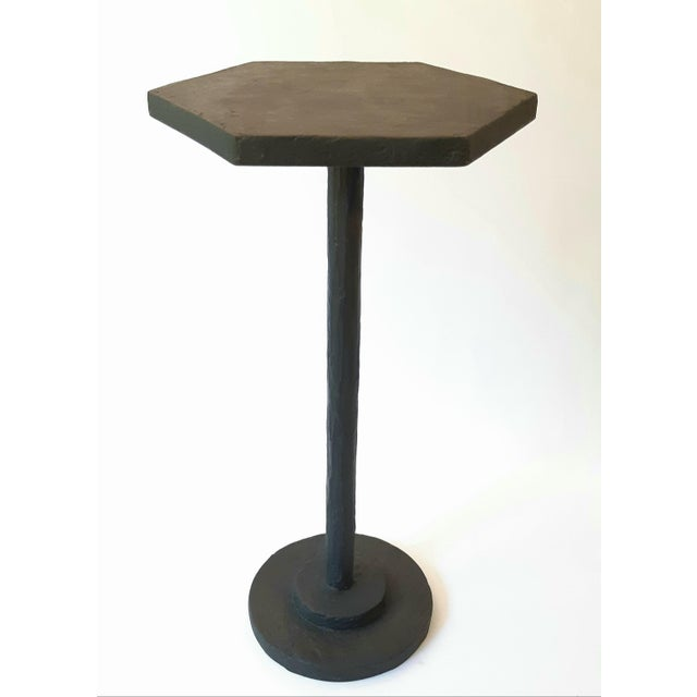 Not Yet Made - Made To Order Modern Artisan Small Accent Table Black For Sale - Image 5 of 5