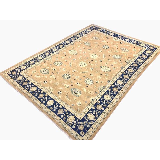 "Textile Kafkaz Peshawar Angelina Brown & Blue Wool Rug - 10' x 13'9"" For Sale - Image 7 of 7"