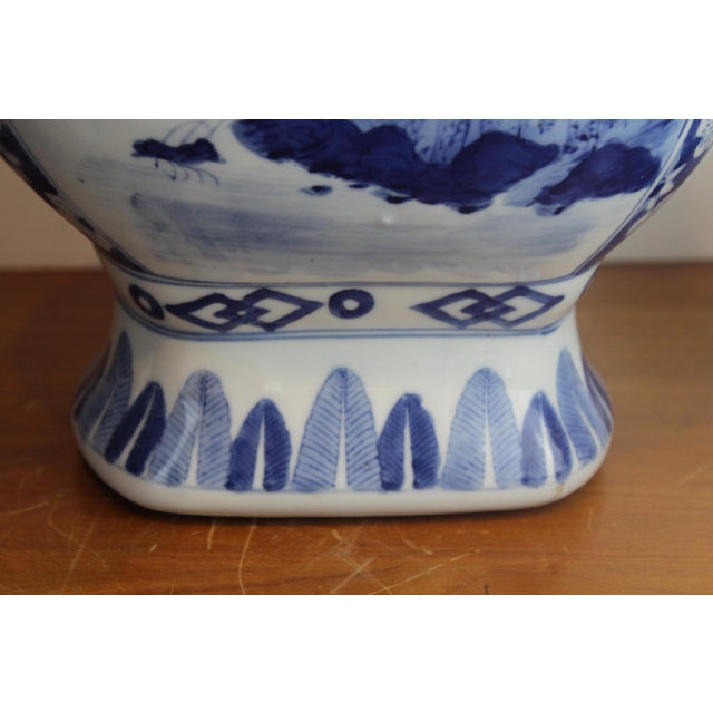 Mid 20th Century Chinese Double Handled Urn For Sale - Image 5 of 7