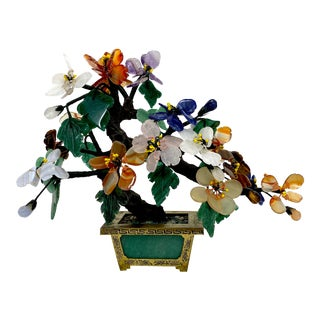 Agate & Jade Potted Bonsai For Sale