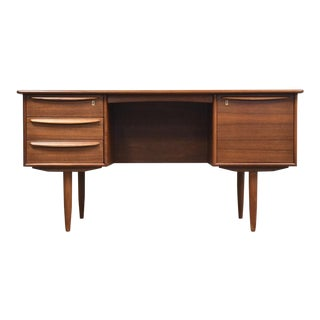 Danish Modern Teak Desk by Falster For Sale