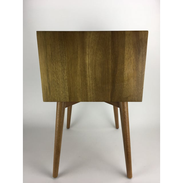 Brown West Elm Mid-Century Style Two-Tone Nightstand Side Table For Sale - Image 8 of 9