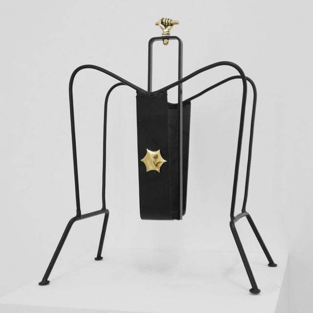Jacques Adnet Magazine Stand C. 1940 - 1949 For Sale In Los Angeles - Image 6 of 6
